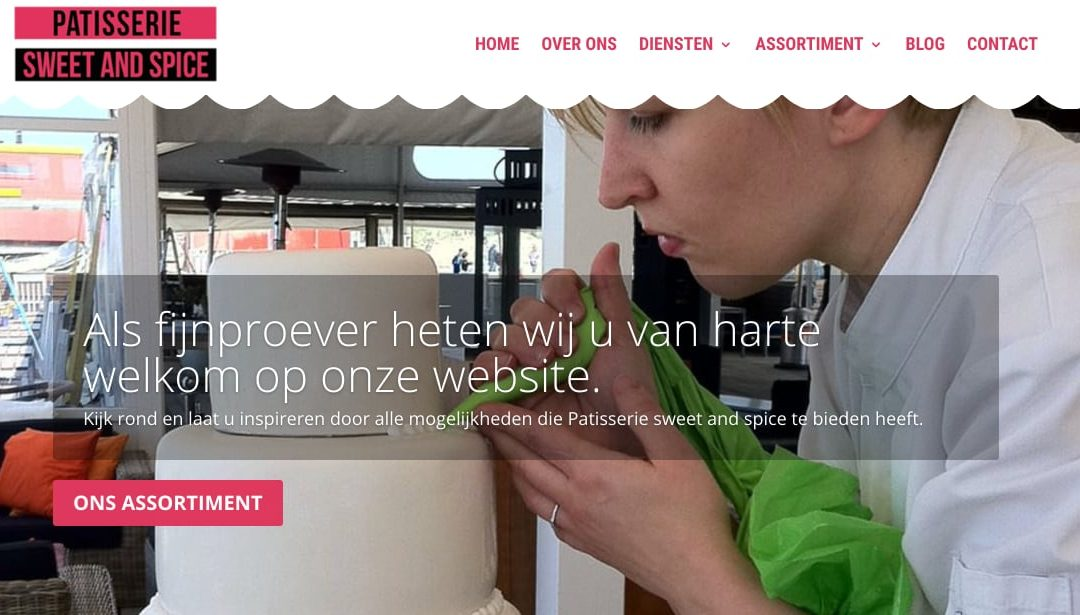 Website voor Patisserie Sweet and Spice