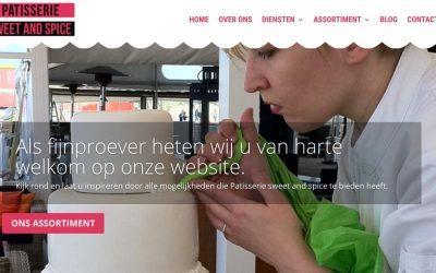 Website voor Patisserie Sweet and Spice