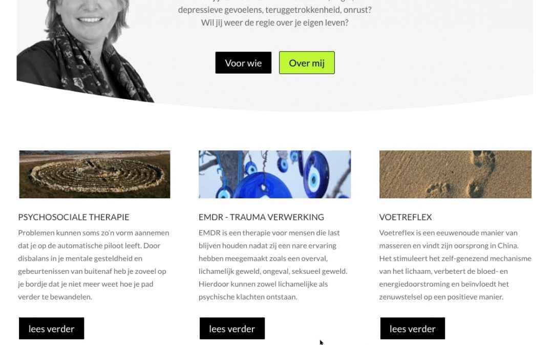 Nieuwe website voor Praktijk San